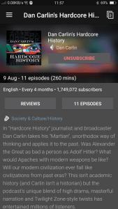 Podcast Addict Podcast Description Screen