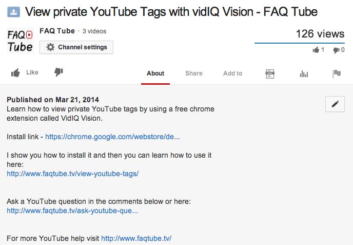 YouTube Video Descriptions
