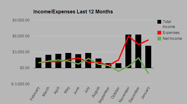 Passive Income and Expenses - January 2015