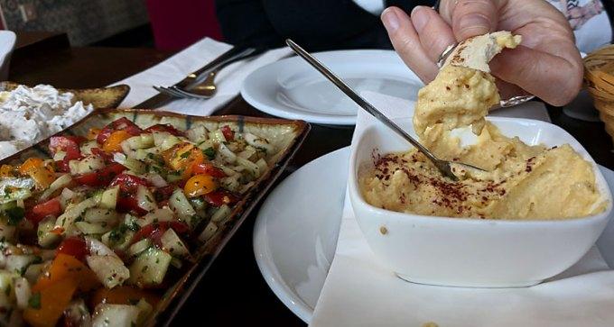 Ada: hummus and Turkish salad