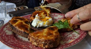 Welsh rarebit and poached egg at Blackbird Tea Rooms