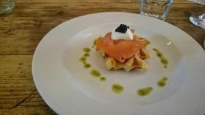 Cantina salmon waffle