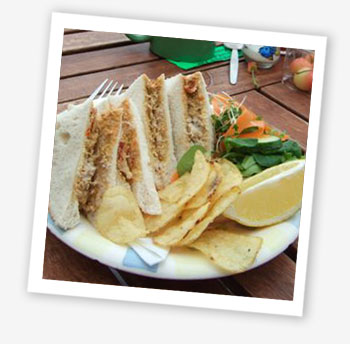 Ventnor Bay fresh crab sandwich