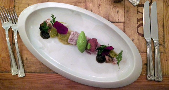 Head cheese at Herz & Niere restaurant