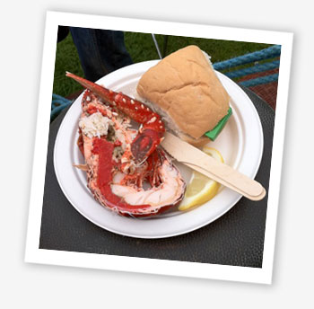 Bestival 2010 food; lobster
