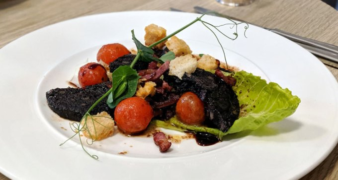 Black pudding and pancetta