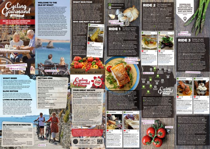 Pick up a Cycling Gourmand leaflet at Seaview Hotel