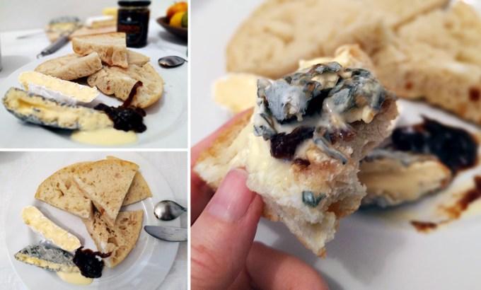 Blue Slipper cheese on Cantina focaccia