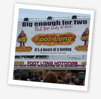 Foot Long Hotdog