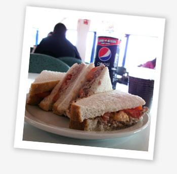 Tuna and tomato sandwiches