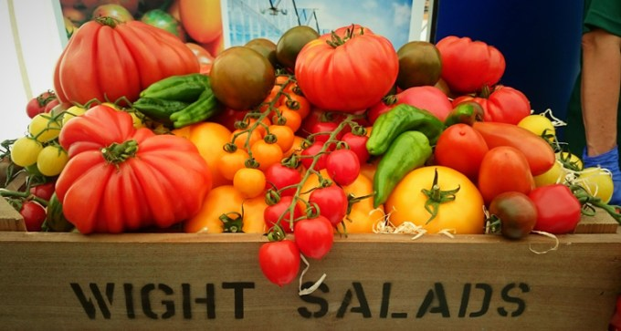Tomatoes by the Tomato Stall