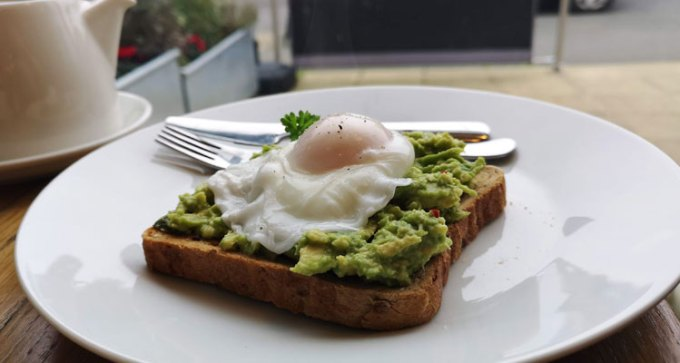 Avocado and egg on toast