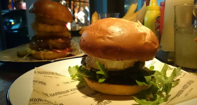 Harbour Kitchen's Portobello mushroom and goats cheese burger