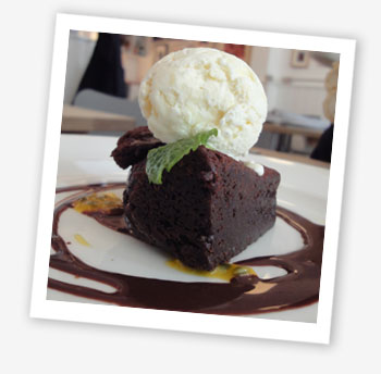 Hillside Bistro, Ventnor chocolate brownie