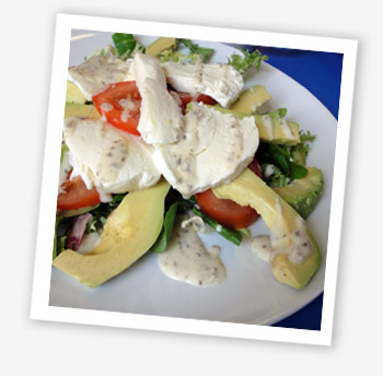 Avocado and mozzerella salad