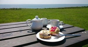 Cream tea - with a view!
