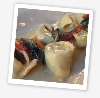 Chicken liver tortellini