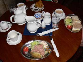Meal at the Jireh Tea Rooms