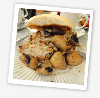 Chicken bap, Newport Café, Scarrot's Lane