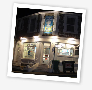 Ocean View fish and chip shop, Ventnor