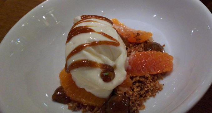 Ice cream and orange, £5.