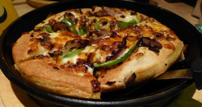 Philadelphia cheese steak pizza