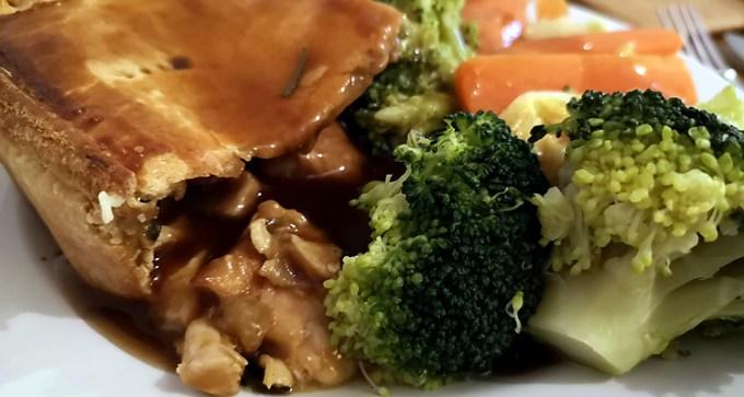 Lemon-roasted chicken pie