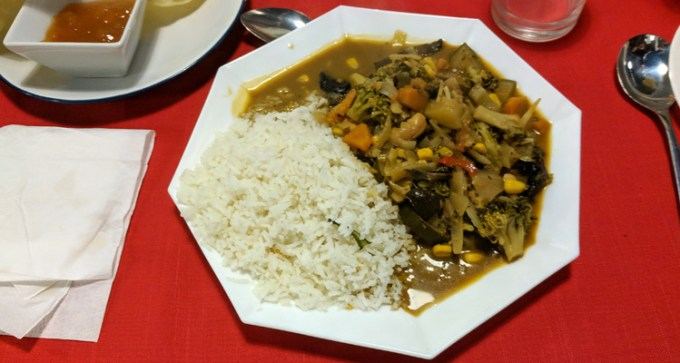 Thai curry with rice