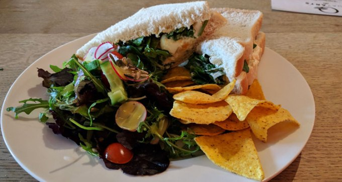 Quay Arts: egg and watercress sandwich
