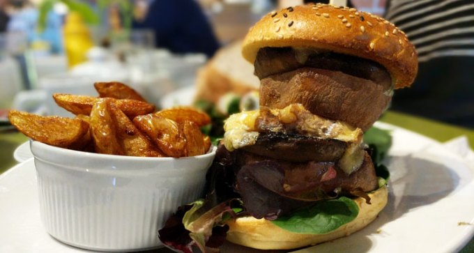 Quay Arts: sweet potato, mushroom, cheese stack