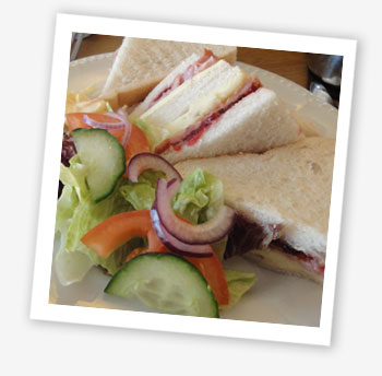 Bacon, Brie and cranberry sarnie