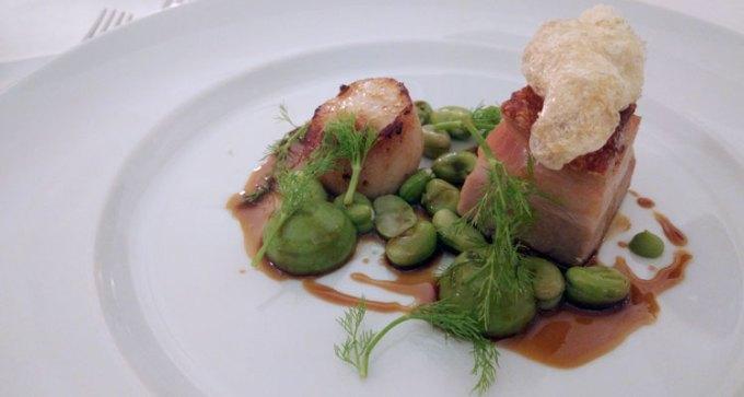 Branstone Farm pork belly and scallop