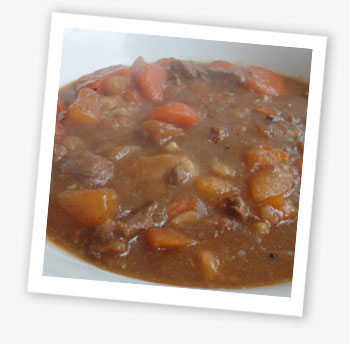 Beef stew and dumplings