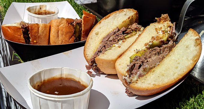 Brisket brioche at Need Street Food
