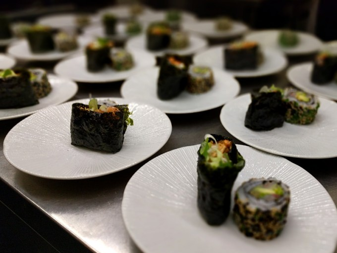 Sushi at the pass