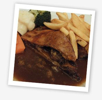 Steak and Stilton pie; The Vine Inn, St Helens