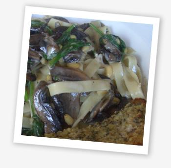 Mushroom tagliatelle