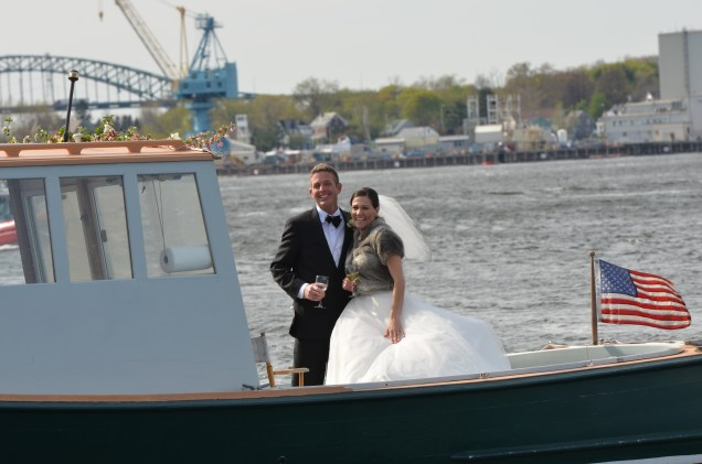 Arriving at yacht club reception by Don Harris Photography
