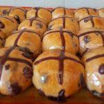 Mini Chocolate Chip Hot Cross buns