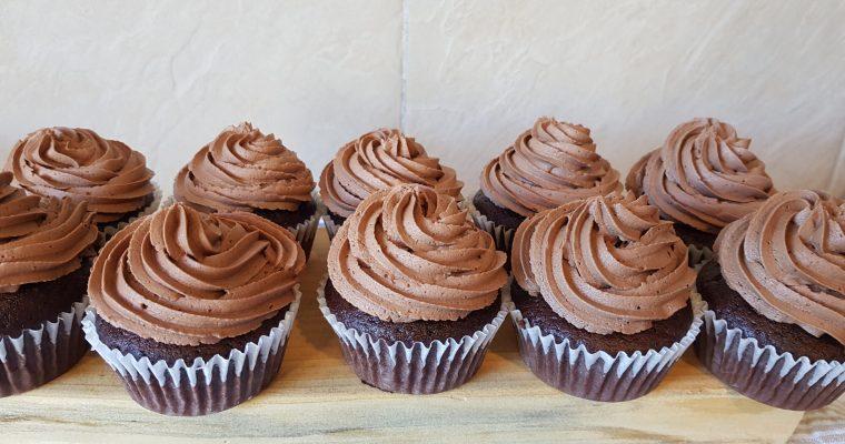 Simple homemade chocolate cupcakes