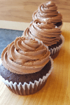 Simple Chocolate Cupcake with chocolate buttercream frosting