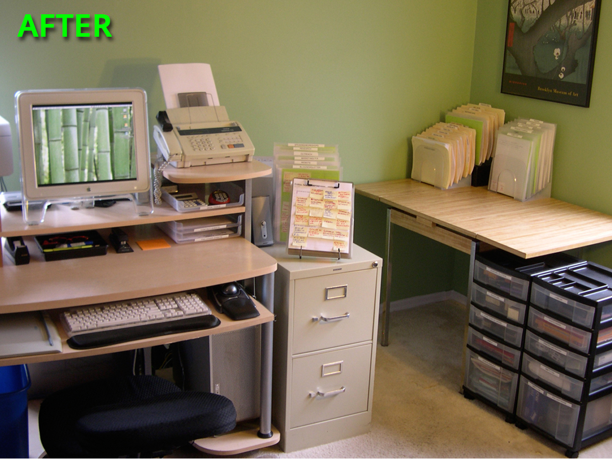 Home Office Organizing Photos Westchester NY and Fairfield County CT