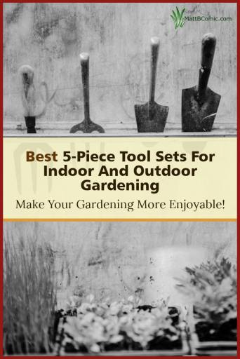 Best Five Piece Garden Tool Set Post Graphic