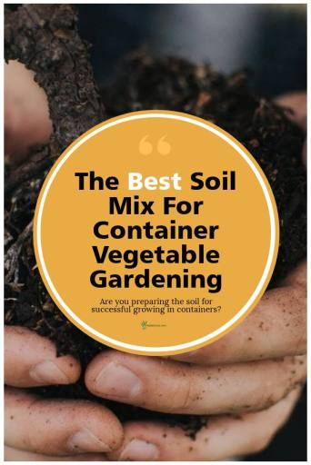 Ideal Soil Mix For Container Vegetable Gardening Post Graphic