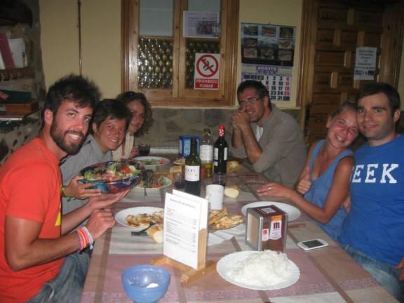 Having Dinner in Rabanal del Camino