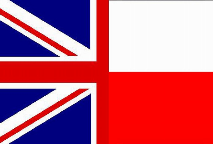 Polish-English flag