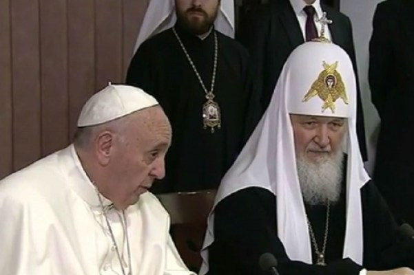 Pope Francis and Bishop Kirill