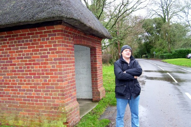 Thatched bus stop 2