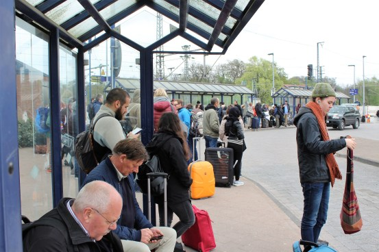 More than 100 passengers displaced from the train on the way to Amsterdam.