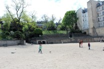 Old Roman arena now a great plays for kids to play and adults to picnic.